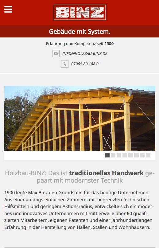 Holzbau-Binz - Mobile