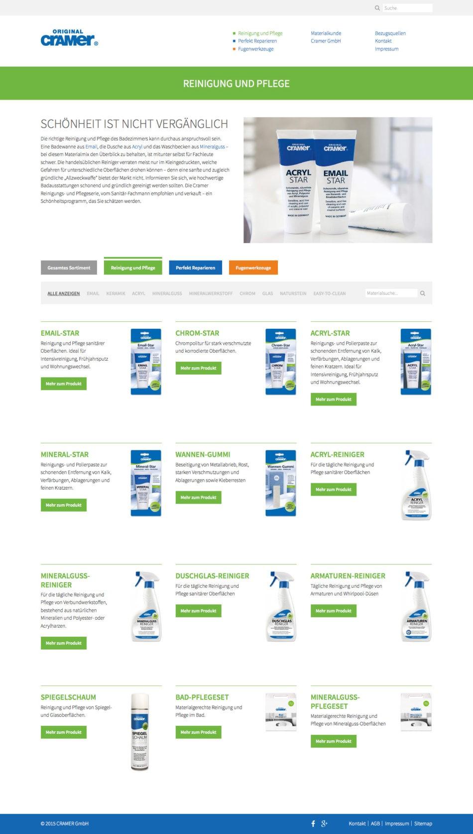 Cramer GmbH - Produkte